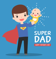 super-dad-with-baby vector image