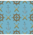Seamless Pattern with AnchorsRetro Ship vector image