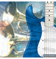 abstract blue grunge music background with vector image