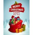 Christmas bag poster vector image