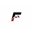 Corporate Logo F Letter company design temp vector image
