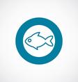 fish icon bold blue circle border vector image