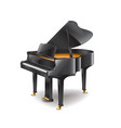 piano isolated vector image