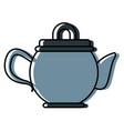 porcelain teapot utensil vector image