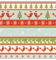 Seamless greeting Christmas card vector image