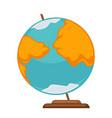 small simple globe vector image