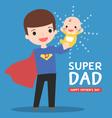 super-dad-with-baby vector image