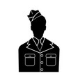 veteran or soldier of the american army vector image