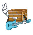 with guitar crate mascot cartoon style vector image