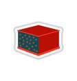 lasagna sticker vector image