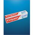 Colgate toothpaste design vector image