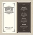 Vintage Restaurant or cafe menu design template vector image