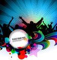 party banner background vector image vector image