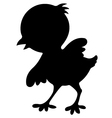 Chicken Birds Silhouettes vector image