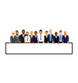 business men in a line vector image