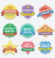 Flat color badges and labels promotion design vector image
