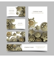 Mechanic business cards set vector image