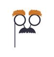 mustache and glasses humor mask masquerade vector image