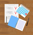 planning and organization vector image