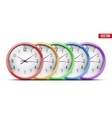 Set of Office Wall Clock vector image