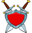 shield and swords vector image