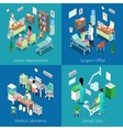 Isometric Hospital Interior Medical Laboratory vector image