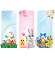 Banners for Easter vector image vector image