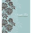 Invitation floral card vector image vector image