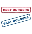 Best Burgers Rubber Stamps vector image vector image