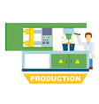 industrial production isolated concept vector image
