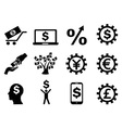 making money icons set vector image vector image
