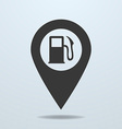 Map pointer with a fuel symbol vector image