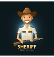 Sheriff logo design template police LAPD vector image