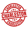 Charleston red round grunge stamp vector image