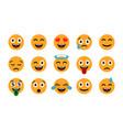 emoticons set emoji smile icons isolated vector image