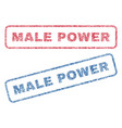 male power textile stamps vector image