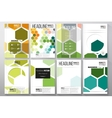 Set of templates for brochure flyer or booklet vector image
