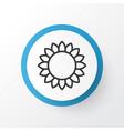sunflower icon symbol premium quality isolated vector image