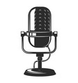 vintage microphone icon isolated on white vector image