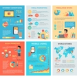 Set of Internet Technology Infographic Templates vector image