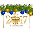 New year Vintage Border vector image