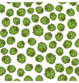 green artichoke seamless pattern vector image
