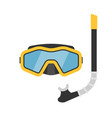 diving mask and snorkel vector image