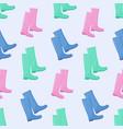 Wellington rain boots seamless pattern vector image