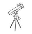 sketch telescope icon vector image