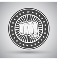 Clenched fist icon vector image vector image