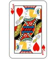 jack of hearts vector image vector image