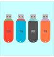 set of flash drive in flat style vector image