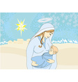 Madonna and child Jesus vector image