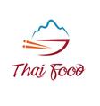 thai food bowl vector image